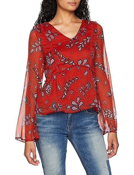 Vero Moda Vmjoanna Chif L/s Top D2-6, Blusa para Mujer,