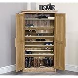 baumhaus mobel solid oak extra. Arden Solid Oak Furniture Hallway Shoe Cupboard Cabinet Rack Baumhaus Mobel Extra