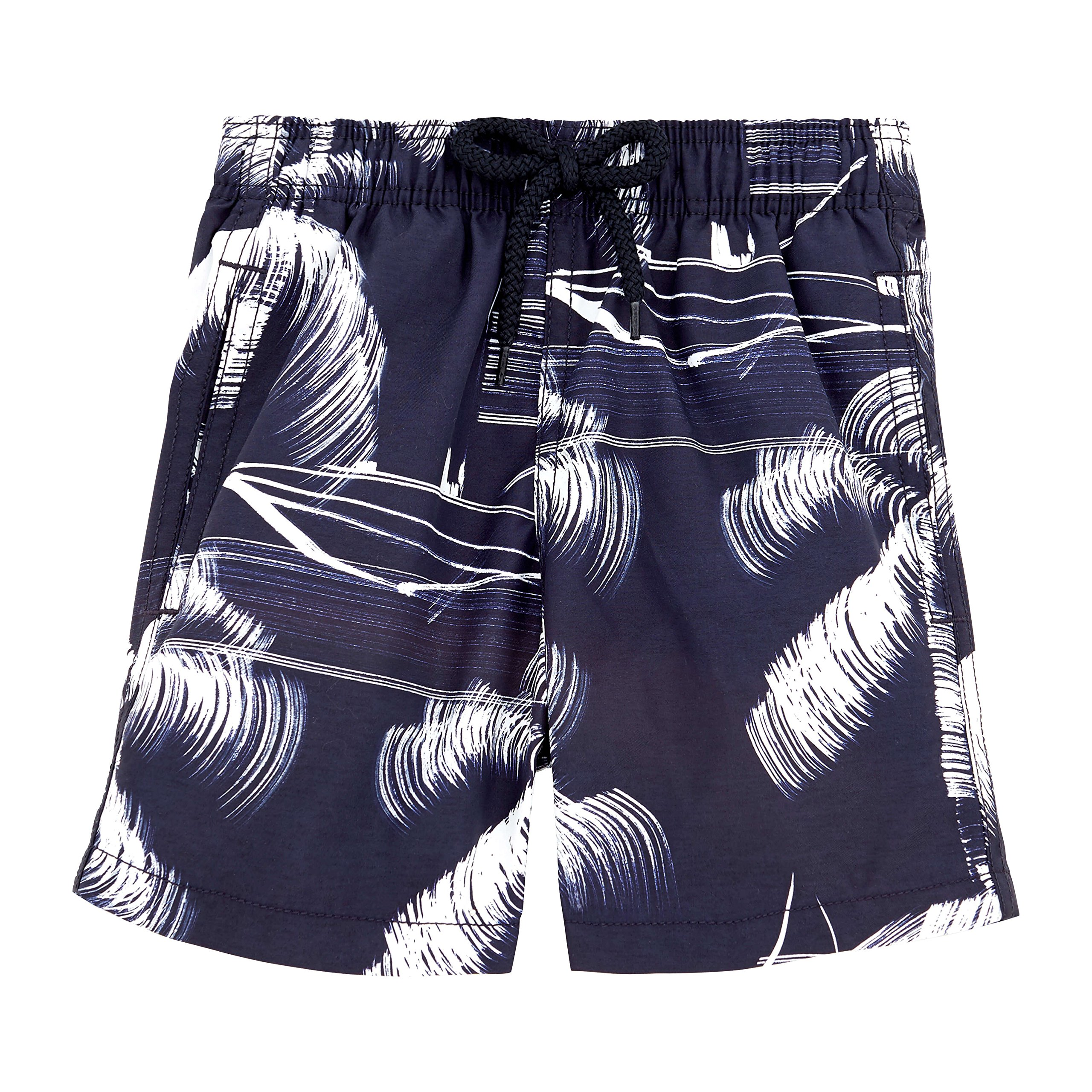 Vilebrequin - Palm Trees Boy Swimwear - Boys - 8 years - Navy Blue by Vilebrequin