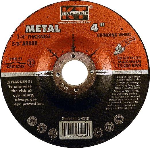 K-T Industries 5-4247 4-1//2 x 1//4 x 5//8-11 Metal Grinding Wheel