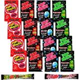 Your Favorite Pop Rocks Candy Mix - 18 Packs - Strawberry, Original Cherry, Watermelon, Blue Razz, Xtreme Savage Sour Apple & Berry Blast + A Free Snackadilly Sticker