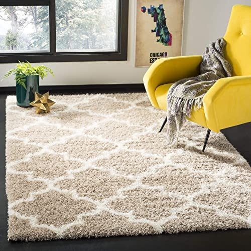 Safavieh Montreal Shag Collection SGM832C Area Rug, 10 x 14 , Beige Ivory