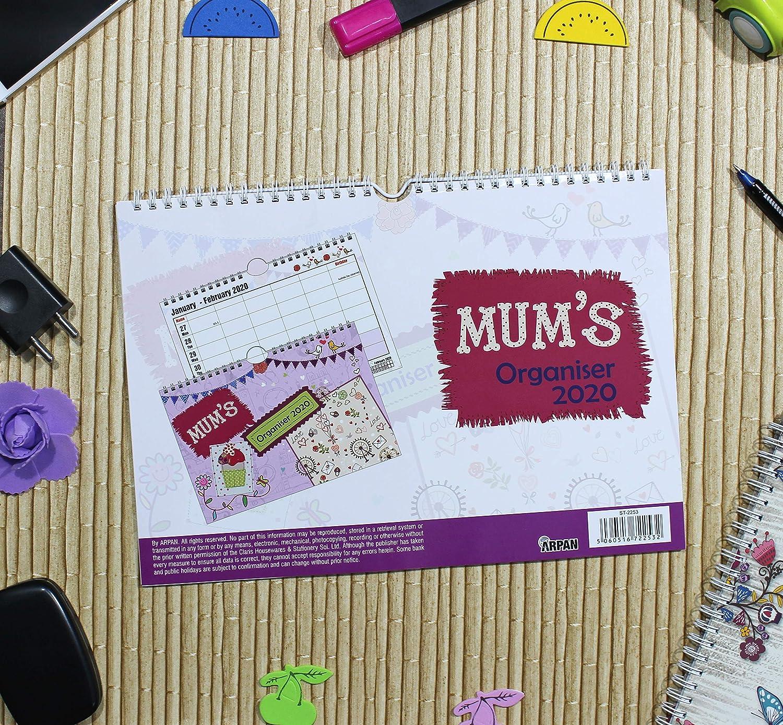 Calendario di Wall Planner di Arpan Settimana a vista con 6 colonne 2020 Organizzatore della famiglia della mamma