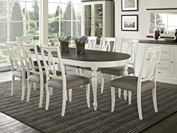 Amazon.com - Coastlink Vegas 9 Piece Oval Extension Dining Table ...