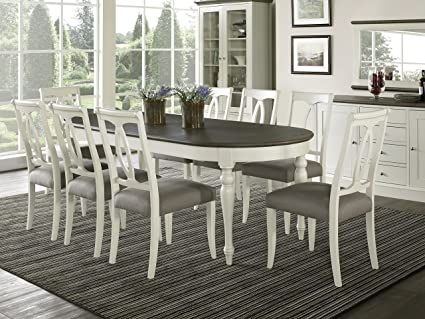 Good Everhome Designs   Vegas 9 Piece Oval Extension Dining Table Set For 8  (Oval Back