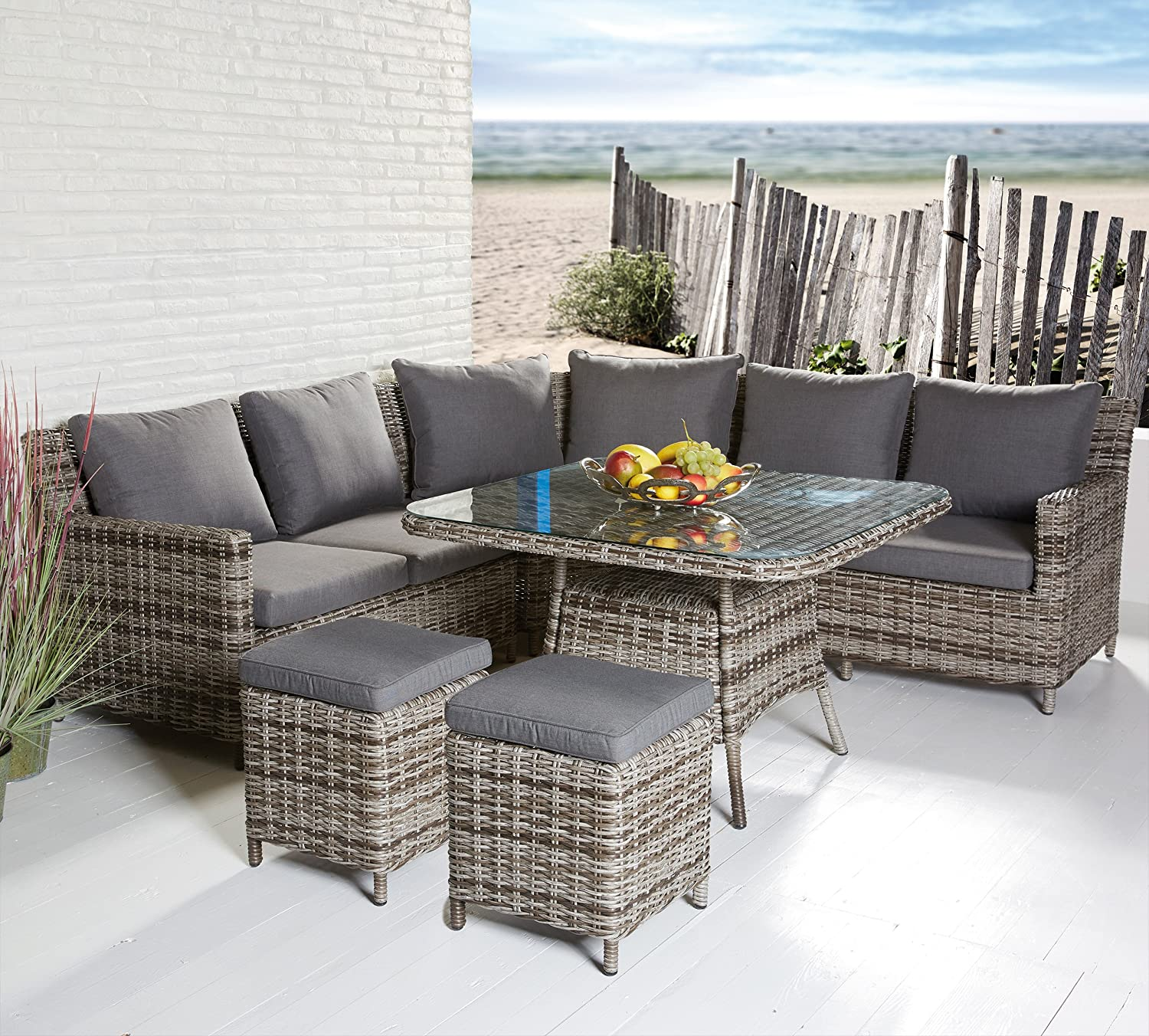 gartenm bel set poly rattan loungem bel sitzgruppe gartenstuhl garnitur gruppe g nstig online kaufen. Black Bedroom Furniture Sets. Home Design Ideas