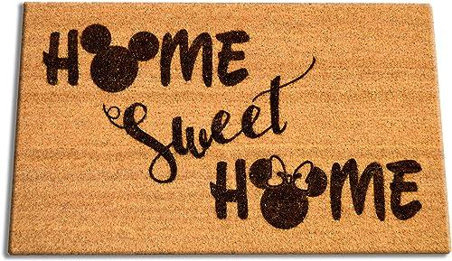 Disney Home Sweet Home Welcome Laser Engraved Coir Fiber Doormat 30 x 18