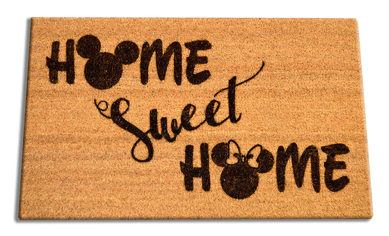 "Disney Home Sweet Home Welcome Laser Engraved Coir Fiber Doormat 30"" x 18"""