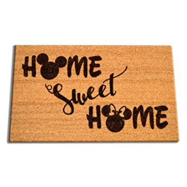 "Disney Home Sweet Home Welcome Laser Engraved Coir Fiber Doormat 30"" x 18"""