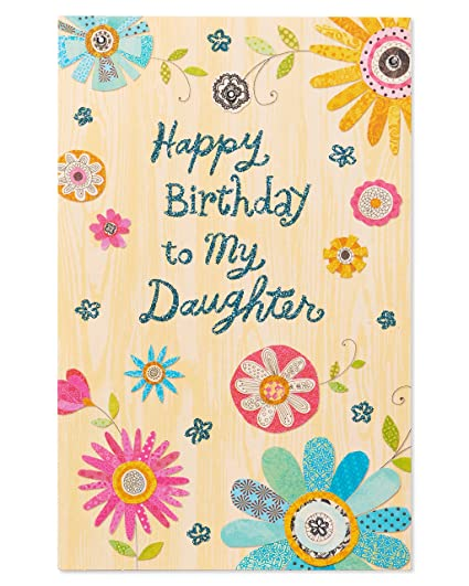 Amazon American Greetings Colorful Flowers Birthday Card For