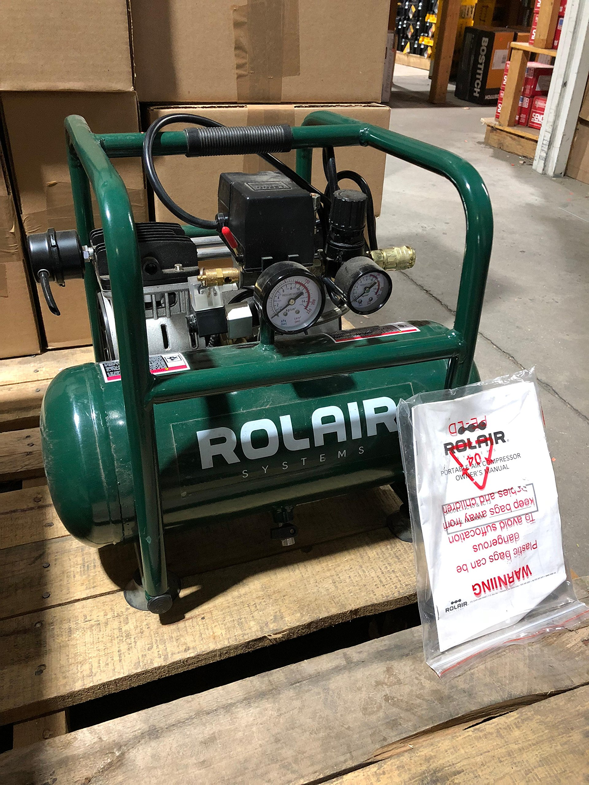 Rolair JC10 Plus 1 HP Oil-Less Compressor by Rolair