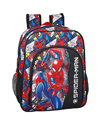 "Spiderman ""Super Hero"" Oficial Mochila Escolar Junior 320x120x380mm"
