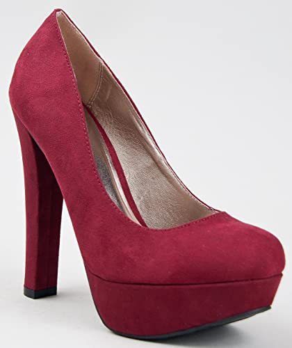 Amazon.com | Qupid MARC-01 Chunky High Heel Platform Pump | Pumps