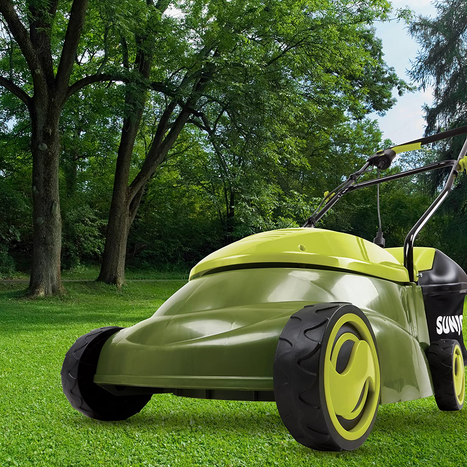 Sun Joe MJ401E-SJB Mow Joe 14-Inch 12 Amp Electric Lawn Mower With Grass Bag
