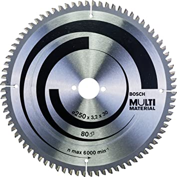 Bosch 2 608 640 516 - Hoja de sierra circular Multi Material - 250 x 30 x 3,2 mm, 80 (pack de 1): Amazon.es: Bricolaje y herramientas