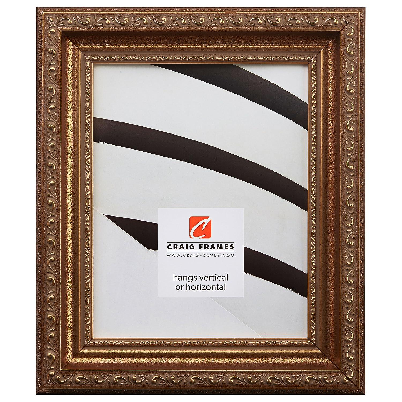Craig Frames 写真用額縁 装飾仕上げ 幅 0.75~2 インチ カラーと仕上げは各種取り揃え 11 x 17 ゴールド 66071117AC B005PNTMM4 11 x 17,2