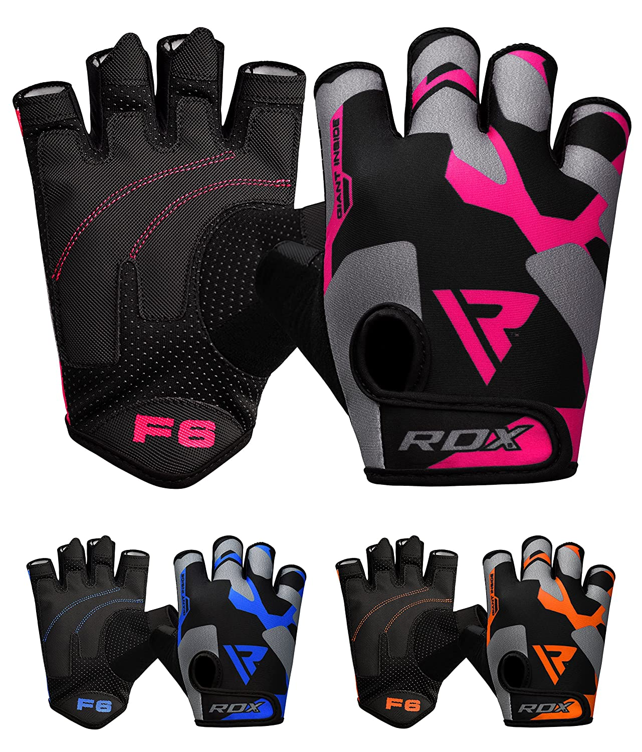 RDX Weight Lifting Gloves Workout Fitness Bodybuilding Gym Breathable Powerlifting Wrist Support Training Exercise