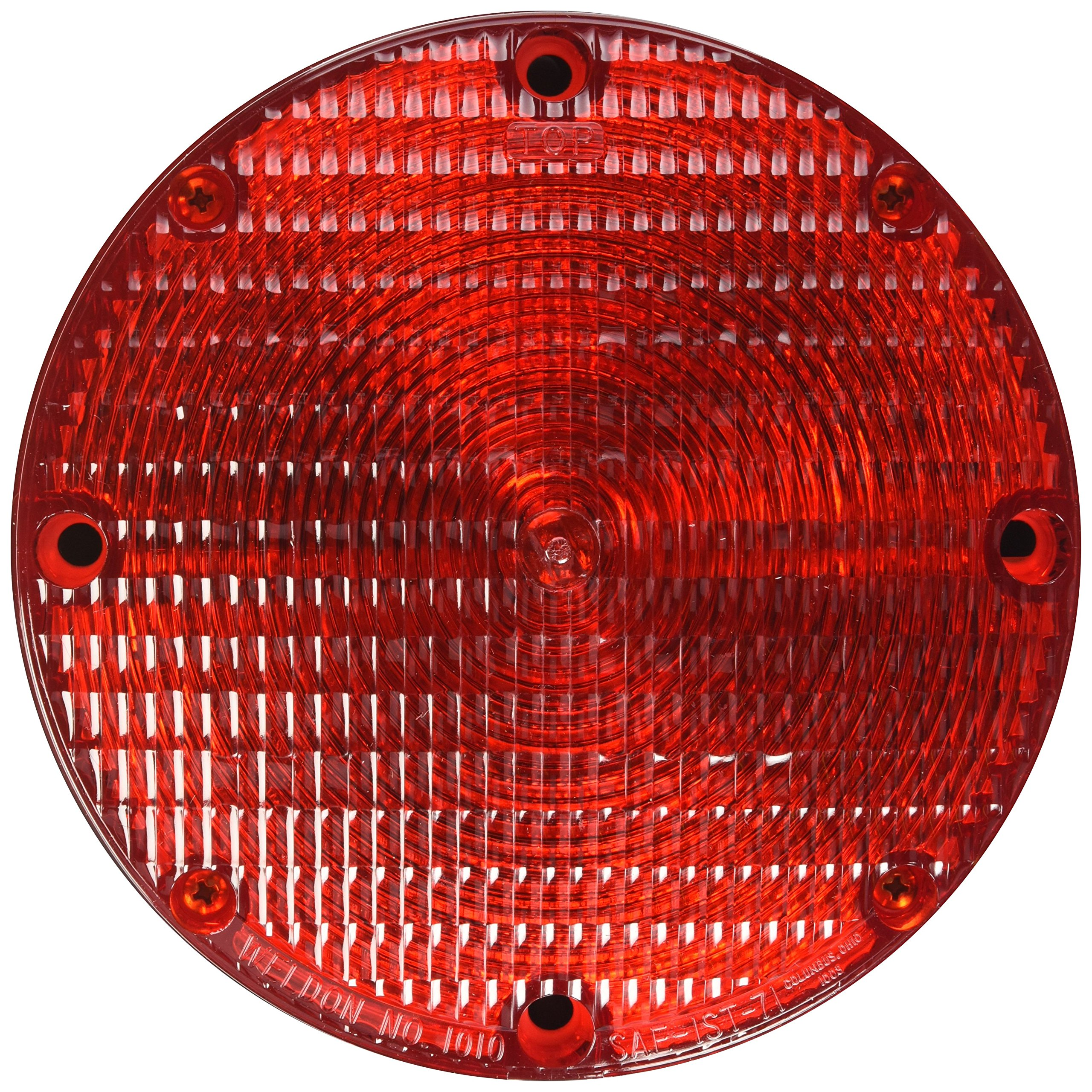 Grote 50132 Red/Black 7'' School Bus Light (Double Contact)