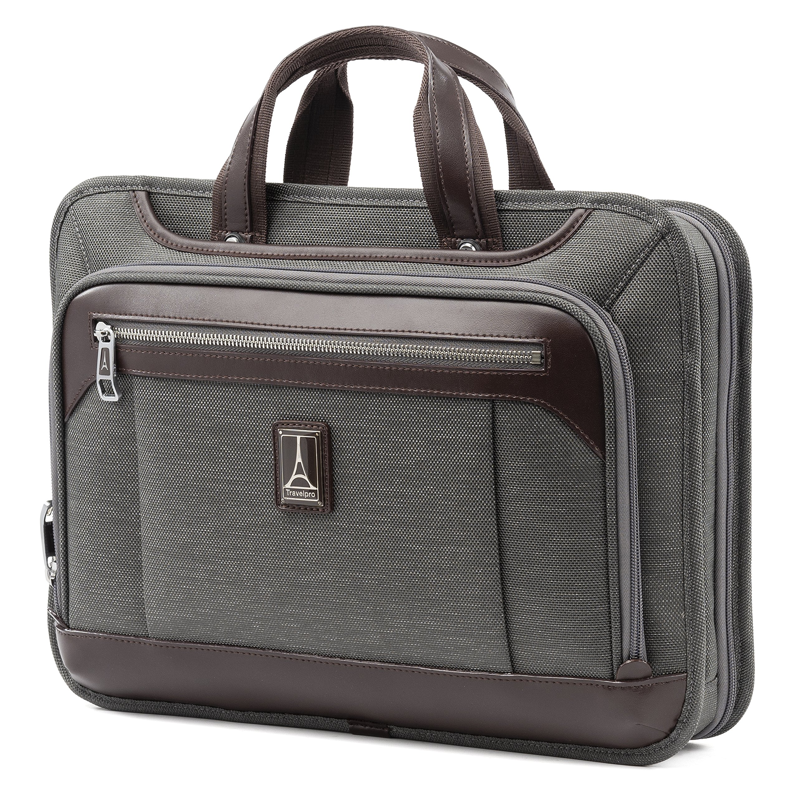 Travelpro Luggage Platinum Elite 16'' Carry-on Slim Business Computer Briefcase, Vintage Grey, One Size