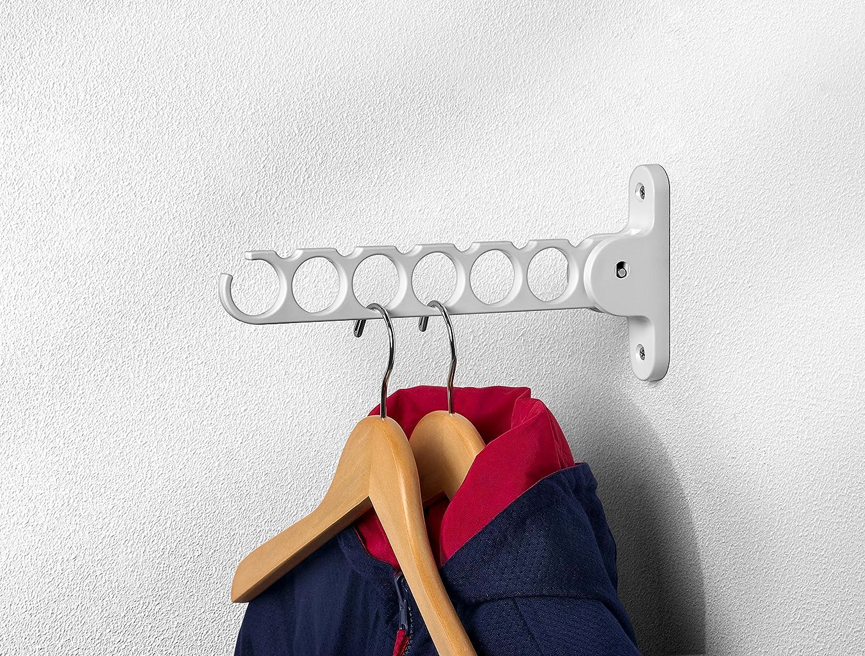 Spectrum 35000 Diversified Wall Mount Hanger Holder Closet Organizer, White