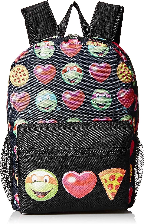 Teenage Mutant Ninja Turtles Girls Emoji 17 Inch Backpack, Various, Large Size