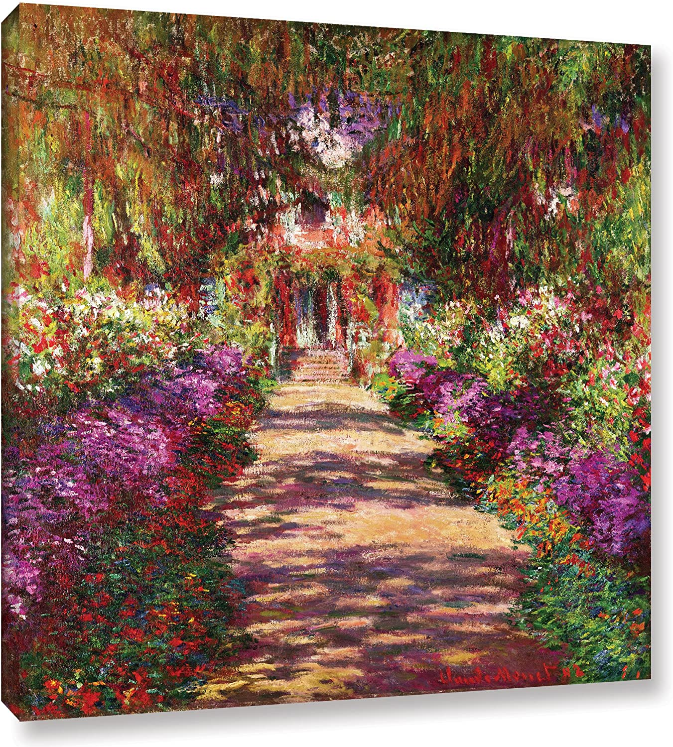 "The ArtWall Claude Pathway in Monet's Garden Gallery Wrapped Canvas Art, 10"" x 10"""