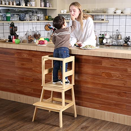 SDADI Learning Tower Kids Kitchen Helper Kitchen Step Stool with Safety Rail - for toddlers 18 & Amazon.com: SDADI Learning Tower Kids Kitchen Helper Kitchen Step ... islam-shia.org