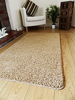 NEW SOFT PLAIN SHAGGY MATS MACHINE WASHABLE NON SLIP LARGE SMALL BEDROOM  RUGS (66 X