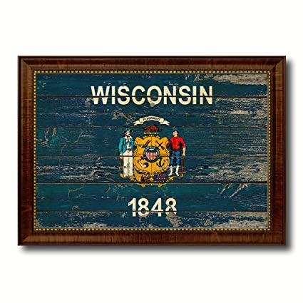 Amazon.com: Wisconsin State Vintage Flag Collection Western ...