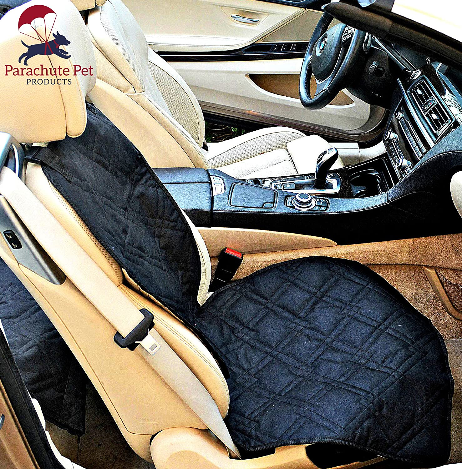 Front Seat Cover with Non-Slip Material and Scratch Proof to Protect Bucket Seat From Dog and Cat Scratches – Machine Washable by Parachute Products