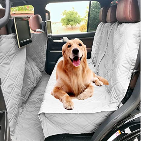 Best Dog Car Seat >> Amazon Com Deluxe Quilted And Padded Dog Car Back Seat Cover With