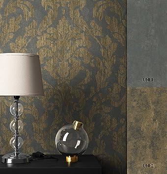 NEWROOM Barocktapete Tapete Schwarz Ornament Barock Vliestapete Gold Vlies  Moderne Design Optik Barocktapete Wohnzimmer Glamour Inkl