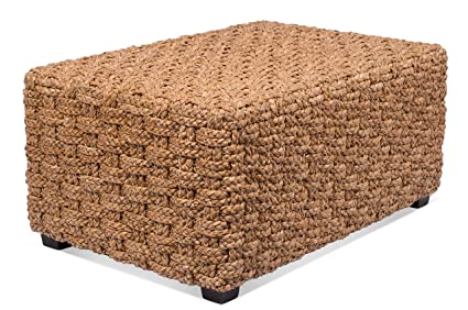 BirdRock Home Checkered Weave Seagrass Coffee Table | Hand Woven |  Rectangle | Living Room Decor