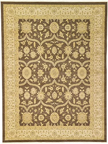 Unique Loom Edinburgh Collection Oriental Traditional French Country Brown Area Rug 9 x 12