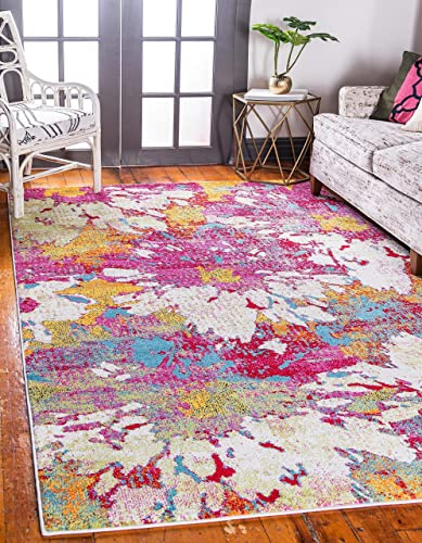 Unique Loom Lyon Modern Area Rug, 8 0 x 10 0, Multi