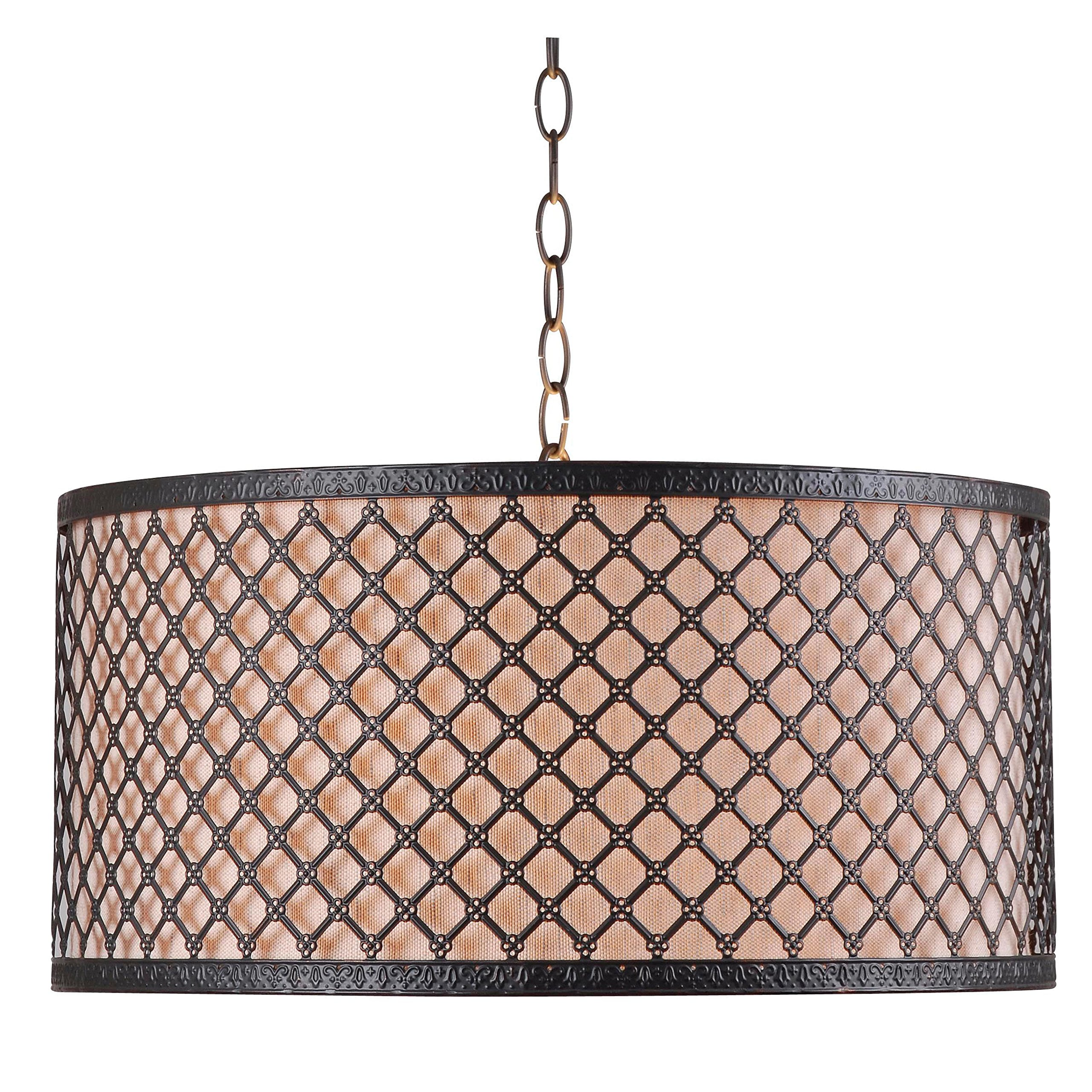 Kenroy Home 93312BRZ Hawthorn 3-Light Pendant, Bronze Finish by Kenroy Home