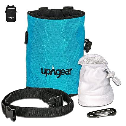 upAgear Chalk Bag – Escalada Bolsas de magnesio con Balón de magnesia - Incluye todo para