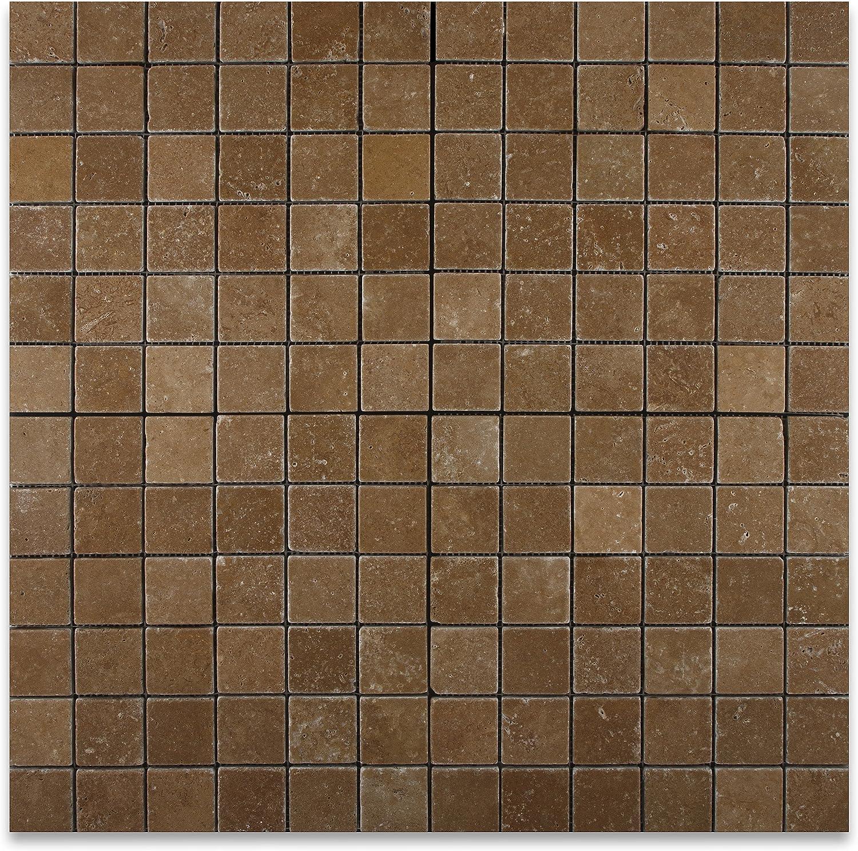 - Noce 2 X 2 Travertine Tumbled Mosaic Tile - Marble Tiles - Amazon.com