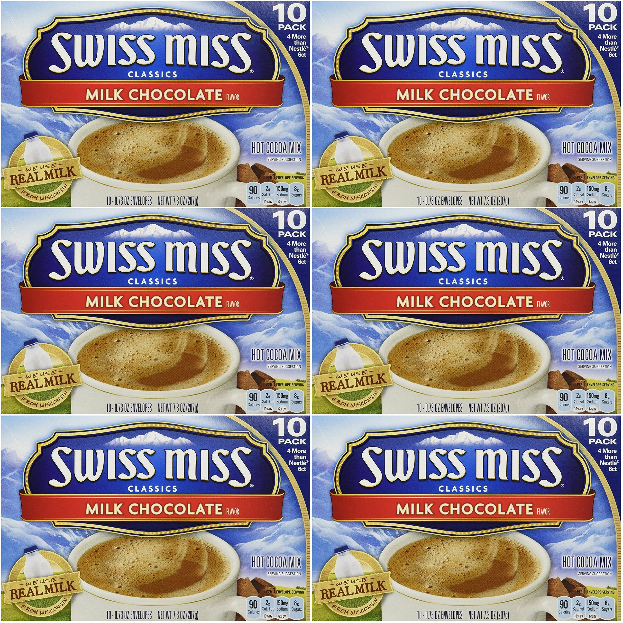 Swiss Miss Classics Milk Chocolate Hot Cocoa Mix, 60 - 0.73 oz envelopes