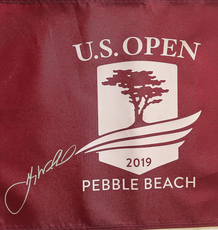 b750d7931 Gary Woodland signed 2019 U.S. open golf flag Red pebble beach pin flag pga