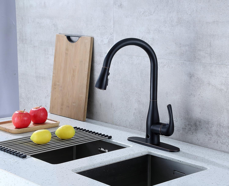 BioBidet Flow Motion Sensor Kitchen Faucet, Oil Rubbed Bronze ...