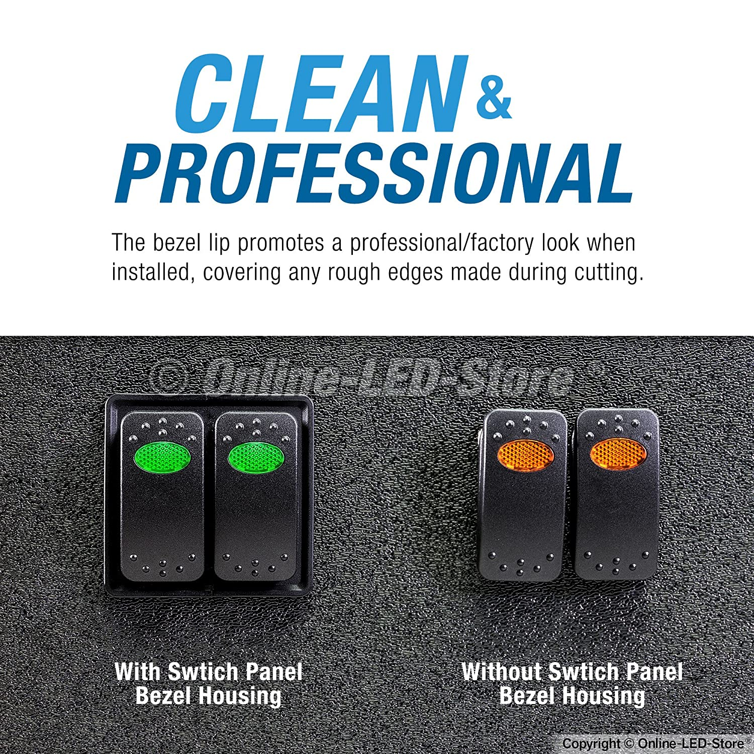 Industry Standard Fit Professional Look ONLINE LED STORE 1-Slot Rocker Switch Panel Heavy Duty Automotive Mount Toggle Switch Housing