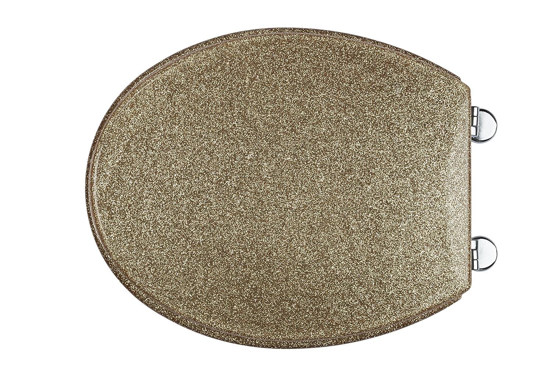 Croydex Gold Glitter Toilet Seat Amazoncouk Kitchen  Home - Gold plated toilet seat