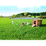 Galvanised Rabbit / Guines Pig Enclosure with Roof 144x116x58cm