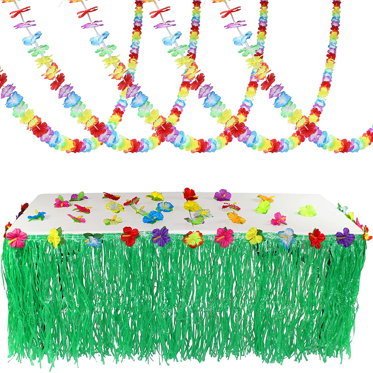 Amazon.com: Joyin Toy Luau Tropical Hawaiian Party Decoration Set ...