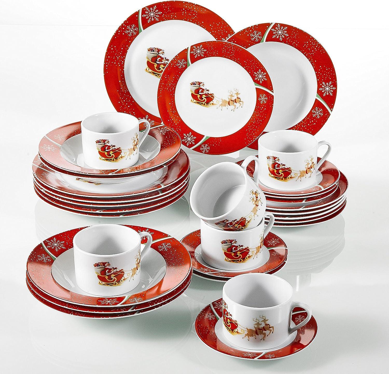 30 Piezas vajillas de Porcelana
