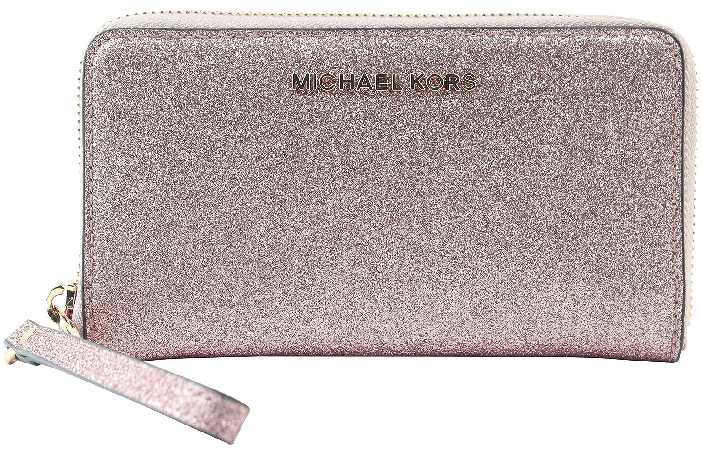 a69fe7b87162b Michael Kors Giftables LG Flat MF Phone Case Leather - Rose Gold  Handbags   Amazon.com