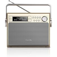 Philips AE5020 Radio Portable FM/DAB+ avec ecteur ou piles (4xLR14) - Gris et Imitation Bois