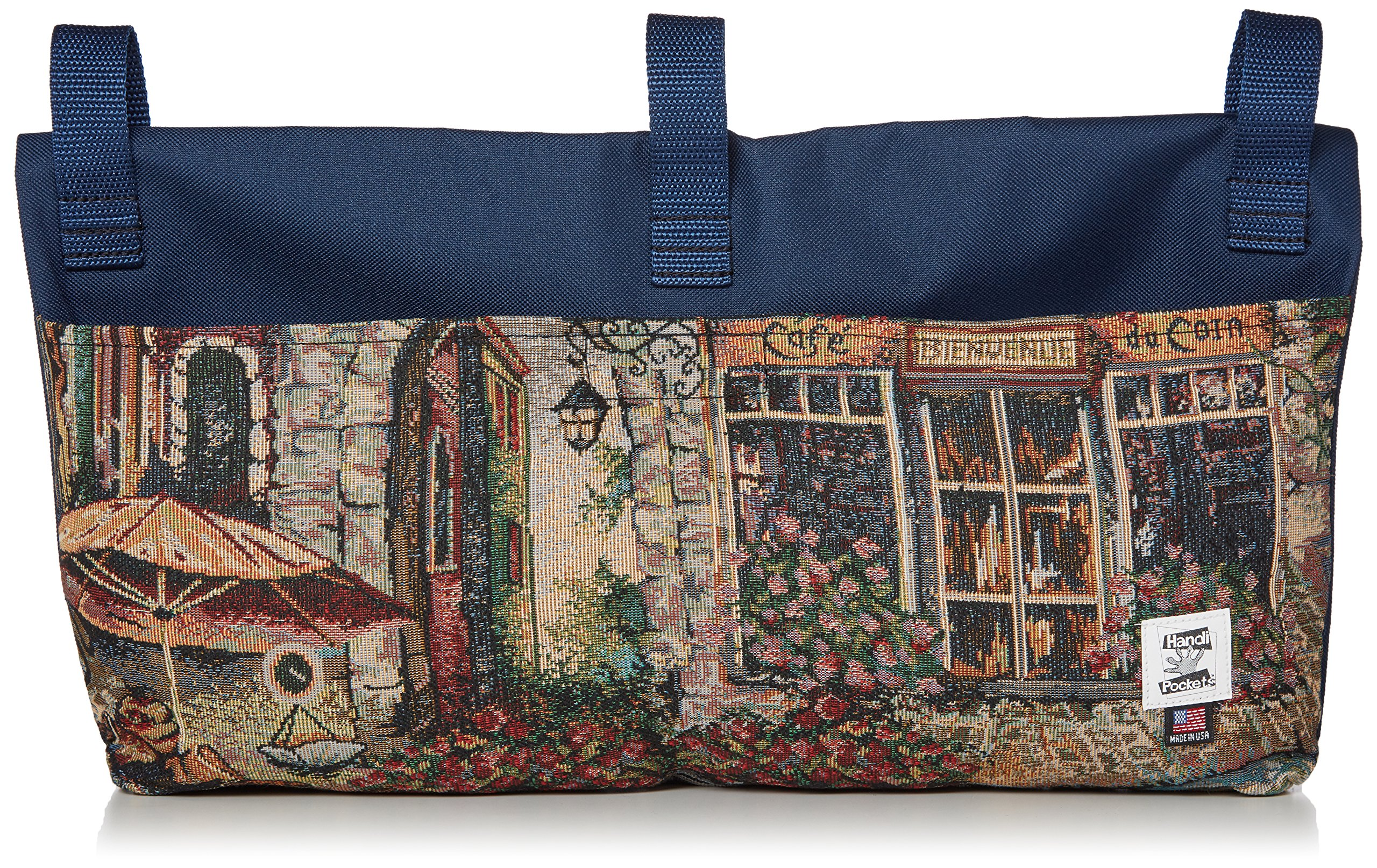 Handi Pockets 2c5bt Storage Accessory Walker, Tapestry, Bistro with Flap