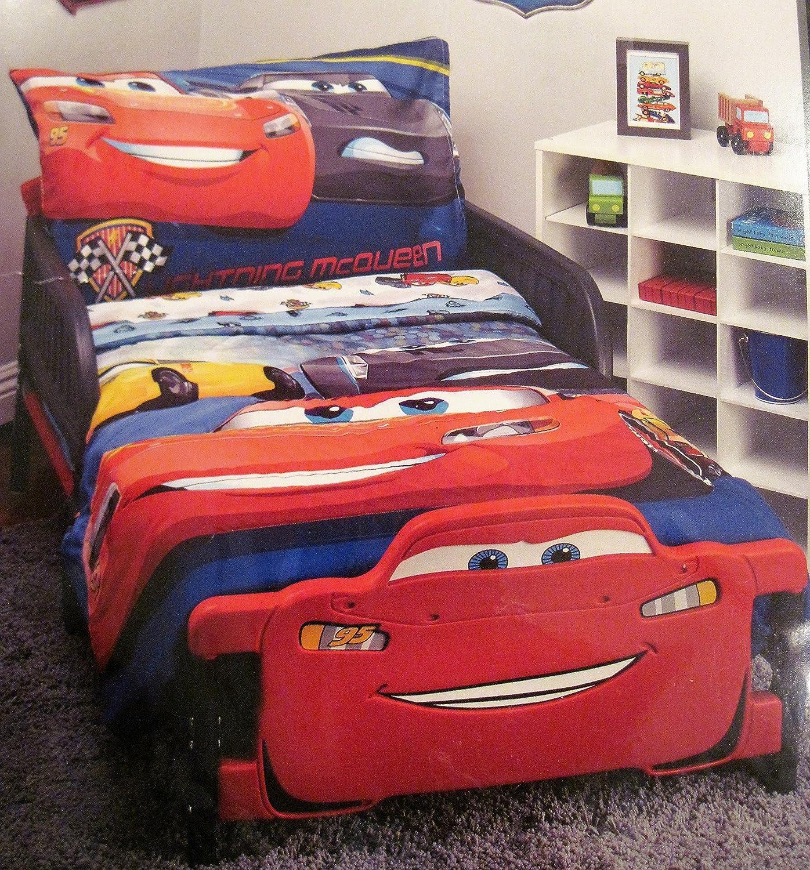 Toddler Cars Red /& Blue Bedding Set 4pc